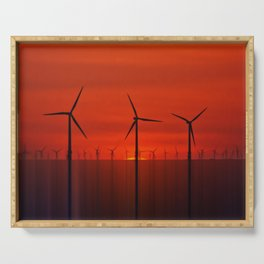 Wind Farms (Digital Art) Serving Tray