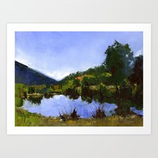 Reflections On The Pond Art Print