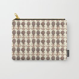 Art Deco Avalon Shell Pattern Cream Carry-All Pouch