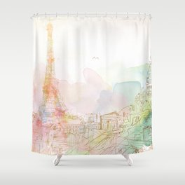 Dream Paris Shower Curtain