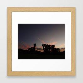 sunset in paradise Framed Art Print