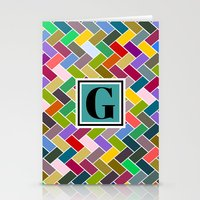 monogram Stationery Cards featuring G Monogram by mailboxdisco