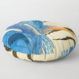 Egret Sun Floor Pillow