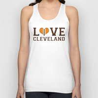 cleveland Tank Tops featuring LUV Cleveland by C. Wie Design