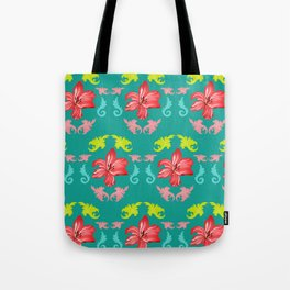 Lilies and baroque leaves: a perfect summer match Tote Bag