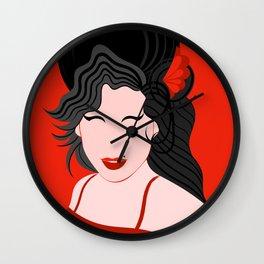 Amy Minimal Portrait Wall Clock