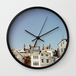 St. Ives house with tilt and shift view. Wall Clock
