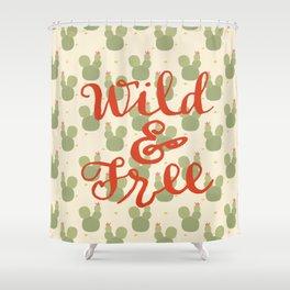 Wild Cacti Shower Curtain