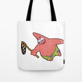 Savage Patrick Star Meme Evil Angry Spongebob Squarepants Tote Bag