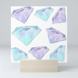 Watercolour Diamond Pattern Mini Art Print