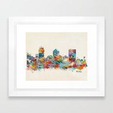 Wichita Kansas skyline Framed Art Print