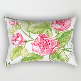 Branch of a Quince tree in Spring Rectangular Pillow