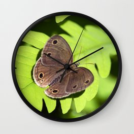 Satyr Butterfly Wall Clock
