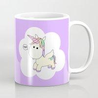 poop Mugs featuring Unicorn Poop by Stephanie Keyes Design