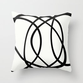 Community - Black and white abstract Throw Pillow