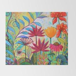 Botanical 1 Throw Blanket