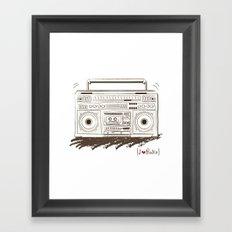 I {❤} RADIO Framed Art Print
