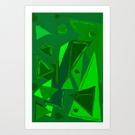 Cages at the Border Green #Abstract #Geometric #PoliticalArt Art Print