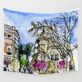 Plaça de la Virreina, Barcelona Wall Tapestry
