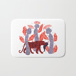 Tiger story in the jungle Bath Mat