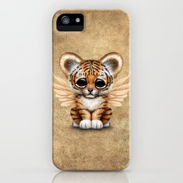 Cute Baby Tiger Cub with Fairy Wings  iPhone Case
