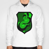 slytherin Hoodies featuring Slytherin Crest by Electric Unicorn