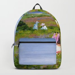 William Merritt Chase - Landscape, Shinnecock, Long Island - Digital Remastered Edition Backpack