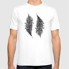 feathers Mens Fitted Tee White MEDIUM
