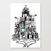 rap Canvas Prints featuring Rap God by Reducto