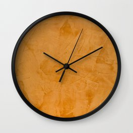 Dante Orange Stucco - Luxury - Rustic - Faux Finishes - Venetian Plaster Wall Clock