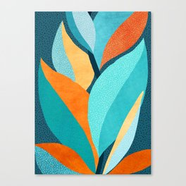 Abstract Tropical Foliage Canvas Print