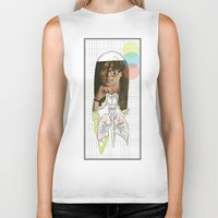 lungs Biker Tanks featuring lungs by Cassidy Rae Marietta