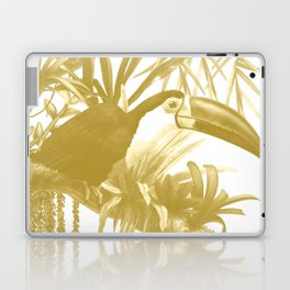 Toucans and Bromeliads - Spicy Mustard Laptop & iPad Skin