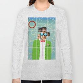 Hockney illustration Long Sleeve T-shirt