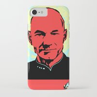 picard iPhone & iPod Cases featuring Captain Jean Luc Picard by Chadventure