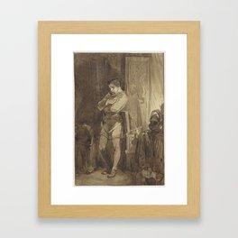 Ridder Johan van Brederode XV in een interieur, Charles Rochussen, 1824 - 1894 Framed Art Print