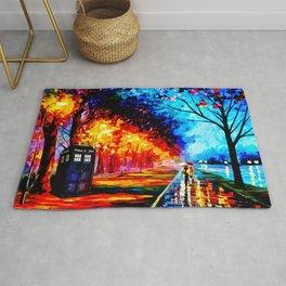 Tardis Colorful Starry Night Rug