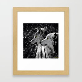 WOLF OF THE NIGHT FOREST Framed Art Print