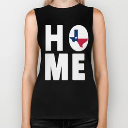 Texas Map Home Lone Star State Flag Typography Biker Tank