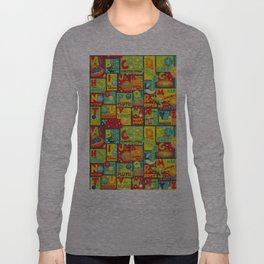 Space Alphabet Long Sleeve T-shirt