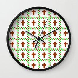 Christian Cross 46 Wall Clock
