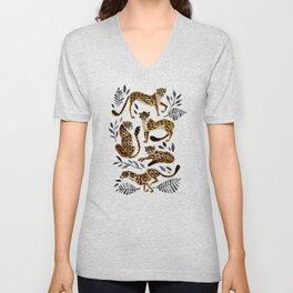 Cheetah Collection – Mocha & Black Palette Unisex V-Neck