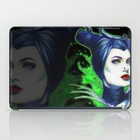maleficent iPad Cases featuring Maleficent by marziiporn