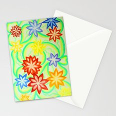 Waltz of the flowers (pencils drawing) Stationery Cards