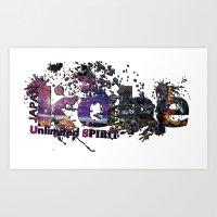 kobe Art Prints featuring kobe by kobe Japan Unlimited Spirit