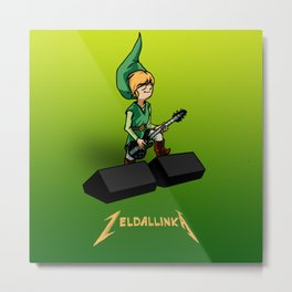 Zelda llinka - Green Link Metal Print