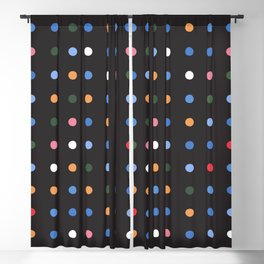 Exist Freely - Black Blackout Curtain