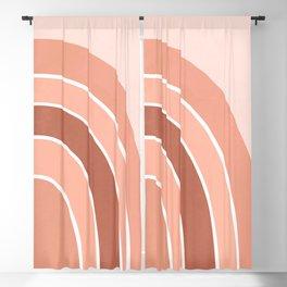 Rainbow arc - neutrals Blackout Curtain