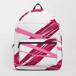 Upwards Movements Red Pink Abstract Art Backpack