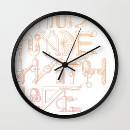 Hand Made With Love Wall Clock